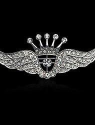 мода декор алмаз короны крыло брошь