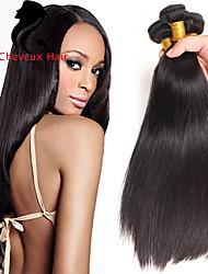 1bundles cabelo humano cabelo reto 8-26inch cabelo peruano cor natural virgem tece