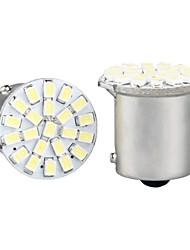 10 x 1156 BA15S P21W 1073 White 22 1206 SMD LED Tail Stop Light Bulb 12V DC