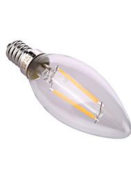 4W E14 / E26/E27 LED лампы в форме свечи A60(A19) 2 COB 320 lm Тёплый белый / Естественный белый Декоративная AC 220-240 V 1 шт.