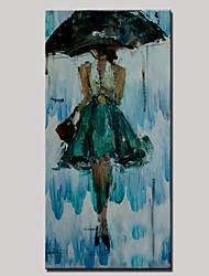 Pintados à mão Lazer / Retratos AbstratosModerno 1 Painel Tela Pintura a Óleo For Decoração para casa