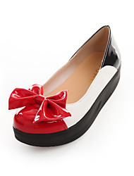 Women's Shoes Platform Comfort / Round Toe Loafers Wedding / Outdoor / Dress / Casual Black / Red / White