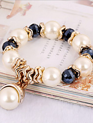 Women's Persona Beads Collection Bracelet Obsidian Crystal / Imitation Pearl / Rhinestone