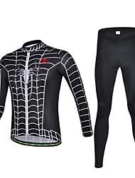 KEIYUEM® Maillot et Cuissard Long de Cyclisme Unisexe Manches longues VéloEtanche / Respirable / Séchage rapide / Pare-vent / Isolé /