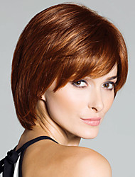Smart Exquisite Virgin Remy Human Hair Hand Tied -Top Short Straight Woman's Wig