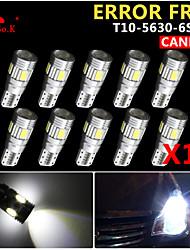 10x canbus coin t10 blanc 192 168 194 W5W 6 5630 SMD LED Lampe erreur ampoule 12v gratuitement
