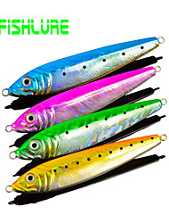 Afishlure Lead Fish Jig Jigging Lure Metal Bait Fishing Lure Artificial Hard Bait 70g 4pcs/lot 4 Colors Bait Casting
