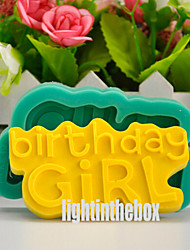 Happy Birthday Girl DIY Silicone Chocolate Pudding Sugar Cake Mold