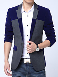 Men's Fashion High Quality Patchwork Cashmere Slim Suit