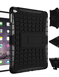 New Heavy Duty Armor Stand With Protective Double Color Shock Proof Cover Case For iPad Mini 4  (Assorted Colors)