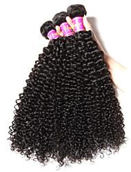3 Ofertas Bundle cabelo crespo cabelo virgem mongol mongolian Kinky Curly virgem