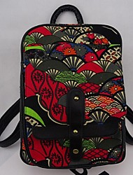Women Canvas Outdoor Backpack Multi-color