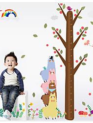 Cartoon Alpaca Height Measurement Wall Sticker Kindergarten Children's Room   Wall Decoration