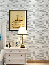 New Rainbow™Stripe Wallpaper Contemporary Wall Covering , Non-woven Paper Mosaic Non-woven Striped Wallpaper