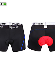 WOSAWE Men Cycling Shorts Blue 4D Padded Coolmax Gel Black Underpant 2 Colors Bicycle Bike Underwear