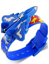 Infantil Relógio de Pulso Digital LCD / Calendário Borracha Banda Azul / Vermelho / Verde marca- SKMEI