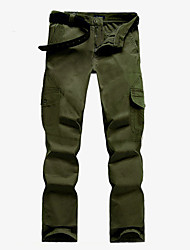 Men's Black /Khaki /Army Green /Light Green Chinos , Casual / Plus Sizes Loose Multi-pocket Pure Fashion Cotton /Others