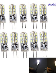 YouOKlight® 10PCS G4 2W 180lm 3000/6000K 24*SMD3014 LED Corn Crystal Lamp Bead (DC12V)-Environmental protection silicone