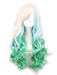 Lolita Light Golden Gradient Green Maid Japanese Cosplay Wig
