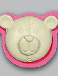 Bear clay mold Chocolate Candy Jello christmas cake moulds for baking tools silicone soap mold kitchenware