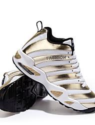 Sapatos Basquete Feminino / Masculino Preto / Branco / Dourado Poliester / Materiais Customizados