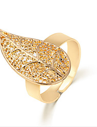 Lureme®  European Style Fashion  Individuality Gold  Leaves Alloy Cuff Rings
