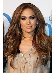 Fashion Lady Long Brown Color Beautiful Wigs