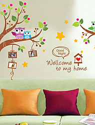 Owl Branch Kindergarten Children's Room Wall Stickers