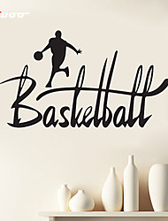 AWOO®  A Man Play Basketball  Wall Stickers Home Decor  Vinyl Stickers For Kids Room Decoration 4019L