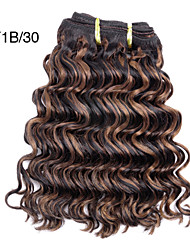 Top Super 100% Original brazilian Virgin Remy Human Hair for Salon Use, New Deep Wave, 105g, Double Drawn 3Pcs