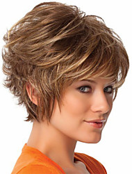 New Arrival Blonde Short Curly Synthetic Hair Wig