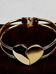 Women's Chain / Round Bangles Bracelet Gold / Alloy Non Stone