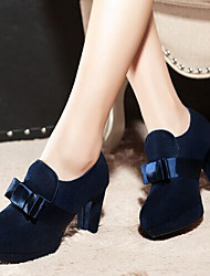 Women's Shoes Chunky Heel Heels Heels Wedding / Party & Evening / Dress Black / Blue / Burgundy