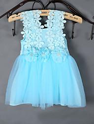 Girl's Jacquard Dress,Polyester Summer Blue / Pink / White