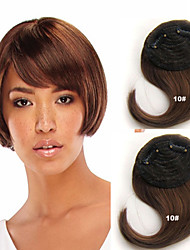 Popular Clip in Synthetic Bang with Side Bang Medium Golden Brown Color