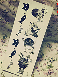 Temporary Tattoos Stickers Non Toxic Glitter Waterproof Multicolored Glitter 1 Package 17*13CM Peace