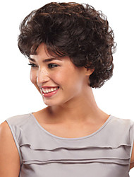 Black Color Fashion Fluffy Short Curly hair Synthetic Wigs Sale.