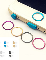 Metal Home button Cover Ring Protector Circle+Earphone Jack&Charging Port Anti-dust Plug Set for IPHONE 6/6S&6/6S PLUS