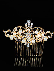 Hairpin Gold Comb for Women Rhinestone Crystals Wedding Hair Accessories Party Wedding Bridal Jewelry