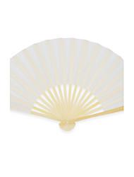 Silk Fans and parasols - 4 Piece/Set Hand Fans Garden Theme / Asian Theme White