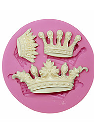 Three Kinds Crown Birthday Cake Decorating Silicone Molds Baking Accessories Chocolate Mold Soap Mold