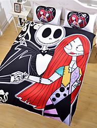 pesadilla de cama antes de la cubierta de la Navidad nórdica&funda de almohada año nuevo regalos edredón oscuras ropas de cama doble