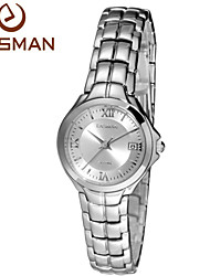 EASman Watch Women Brand 2015 Dress Water Resistant Watches White Steel New Style Classic Wristwatches Women Watch