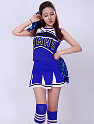 Cheerleader Costumes Women's Performance Polyester 2 Pieces Outfits Red / Blue
