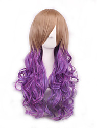 High Quality Purple To Brown Cosplay Synthetic Wigs For Afro Women