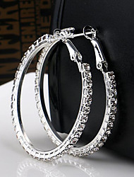 Earring Hoop Earrings Jewelry Wedding / Party / Daily / Casual Crystal Women