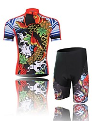 Cycling Jersey with Shorts Men's Short Sleeve Bike Shorts Jersey Clothing SuitsUltraviolet Resistant Moisture Permeability Breathable