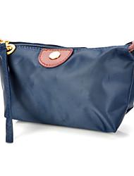 Portable Oxford Cloth Zippered Cosmetic Bag w/ Strap - Deep Blue