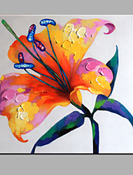 Single Modern Abstract Pure Hand Draw Frameless Decorative Painting Blooming Flowers
