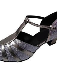 Sapatos de Dança ( Cinzento ) - Mulheres - Customizáveis - Latim / Salsa